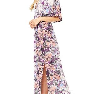 Lovestitch Floral Maxi Dress with Kimono Sleeves
